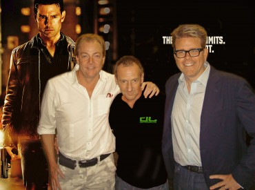 Paul Jennings - Stunt Co-ordinator, Andy Norman and Christopher McQuarrie - Director of Tom Cruises film Jack Reacher